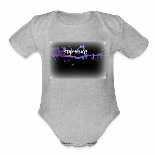 stay milky - Organic Short Sleeve Baby Bodysuit