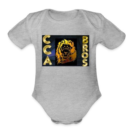 ccabros design - Organic Short Sleeve Baby Bodysuit