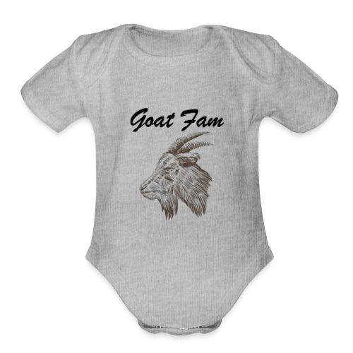 Goat Fam - Organic Short Sleeve Baby Bodysuit