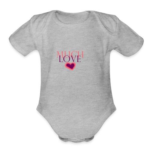 Much Love - Organic Short Sleeve Baby Bodysuit