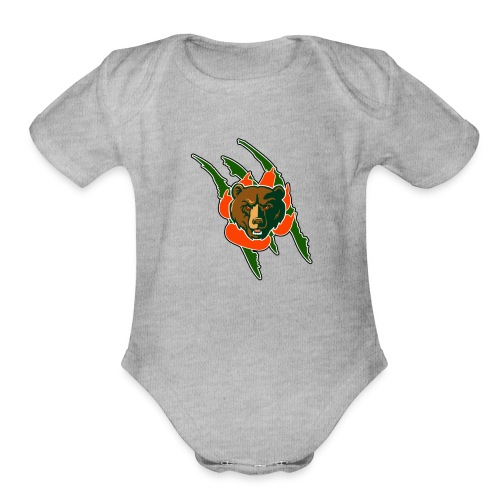 RIVERSIDE POLY BEAR LOGO - Organic Short Sleeve Baby Bodysuit