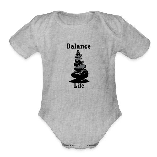 Balance Life - Organic Short Sleeve Baby Bodysuit