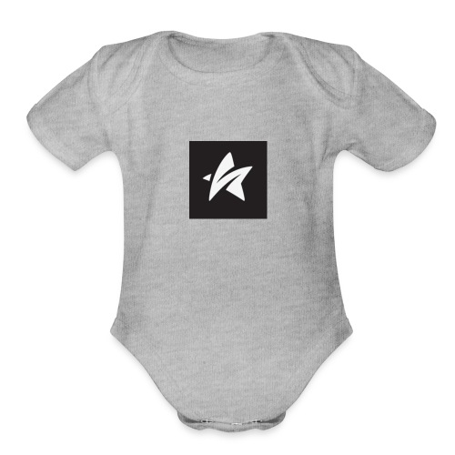 The star - Organic Short Sleeve Baby Bodysuit
