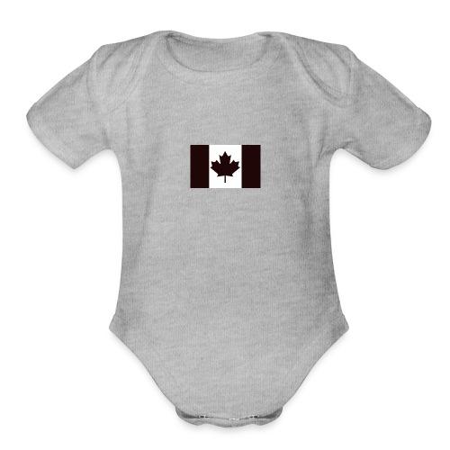 Military canadian flag - Organic Short Sleeve Baby Bodysuit