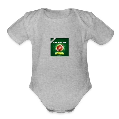 American Football ball - Organic Short Sleeve Baby Bodysuit