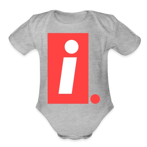 Ideal I logo - Organic Short Sleeve Baby Bodysuit