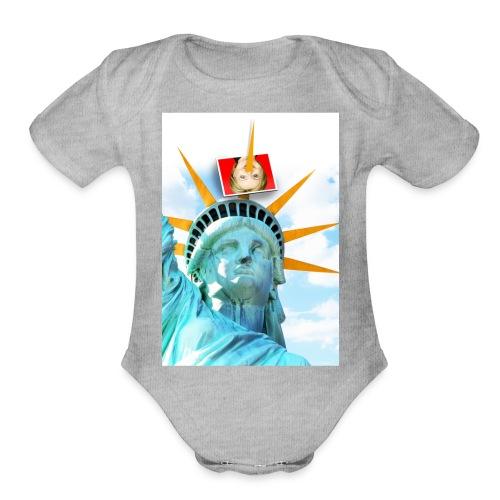 Lady Liberty Spikes Hillary - Organic Short Sleeve Baby Bodysuit