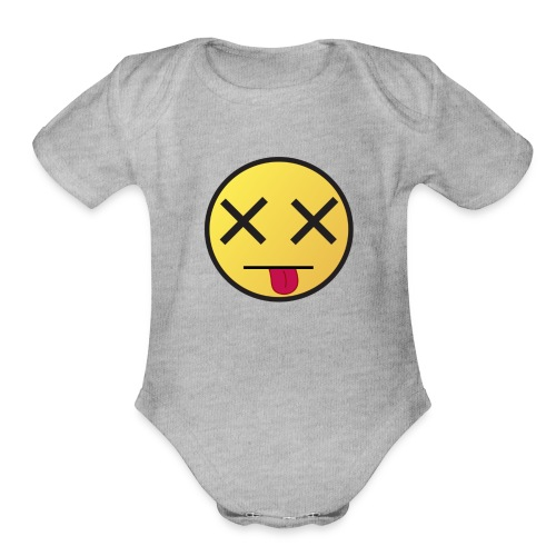 When I wake up - Organic Short Sleeve Baby Bodysuit