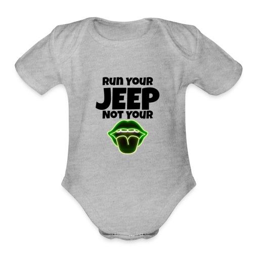 Run Lime - Organic Short Sleeve Baby Bodysuit