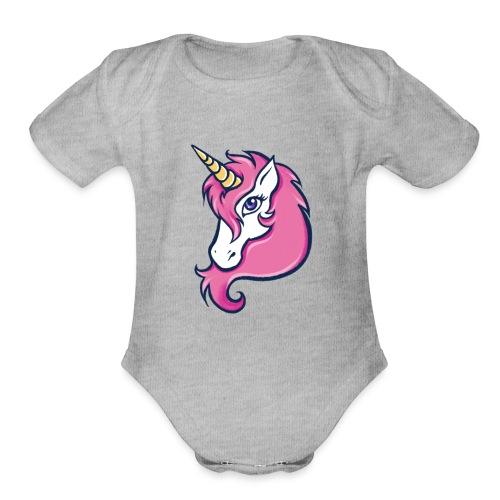 Unicorn - Organic Short Sleeve Baby Bodysuit