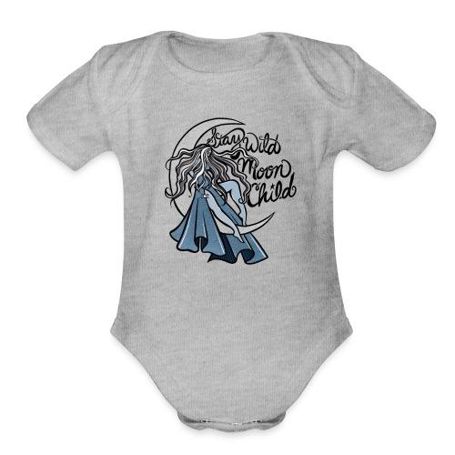 Stay Wild Moon Child - Organic Short Sleeve Baby Bodysuit