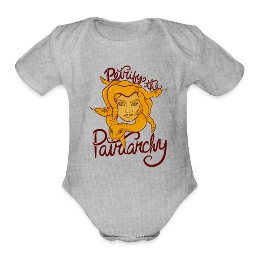 Petrify the patriarchy - Organic Short Sleeve Baby Bodysuit