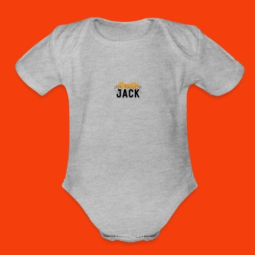 monster jack logo - Organic Short Sleeve Baby Bodysuit