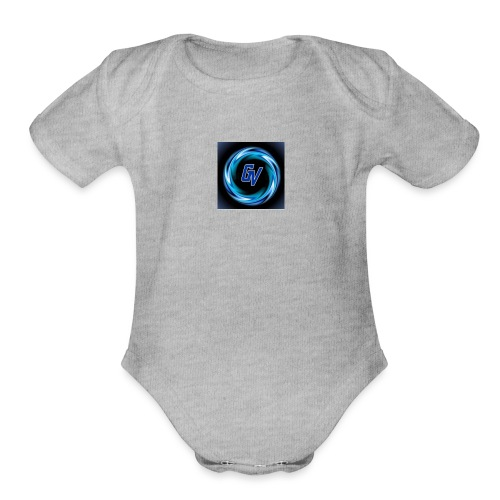 MY YOUTUBE LOGO 3 - Organic Short Sleeve Baby Bodysuit