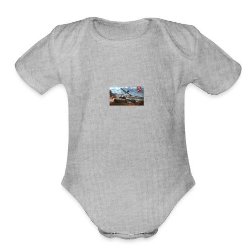bandana of war - Organic Short Sleeve Baby Bodysuit