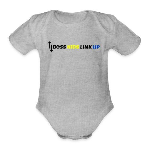 Boss Kids Link 2 - Organic Short Sleeve Baby Bodysuit