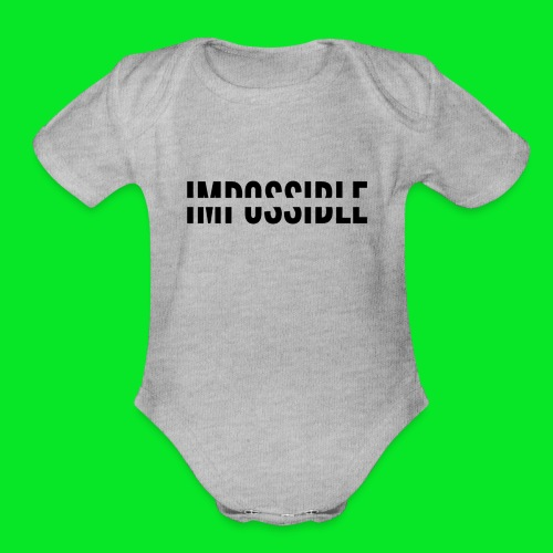 Impossible - Organic Short Sleeve Baby Bodysuit