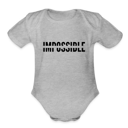 Impossible - Organic Short Sleeve Baby Bodysuit