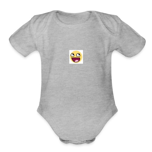 LOGIC Bitz Smily - Organic Short Sleeve Baby Bodysuit