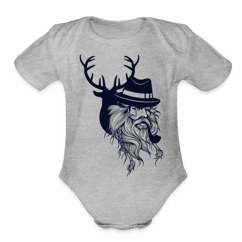 Santa's Reindeer - Organic Short Sleeve Baby Bodysuit