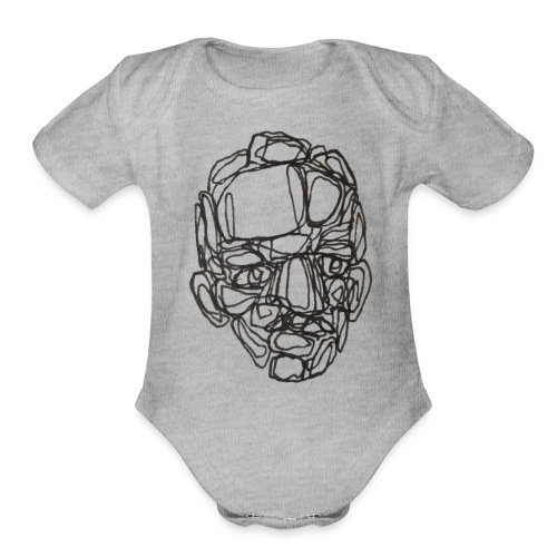 old boy - Organic Short Sleeve Baby Bodysuit