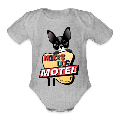 MikesDogMotelLogo - Organic Short Sleeve Baby Bodysuit