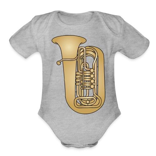Tuba brass - Organic Short Sleeve Baby Bodysuit