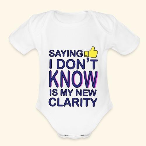 new clarity - Organic Short Sleeve Baby Bodysuit