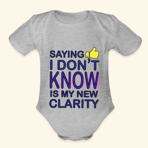 new clarity - Organic Short Sleeve Baby Bodysuit