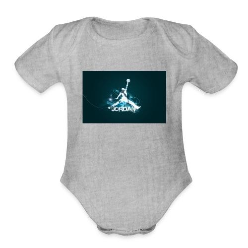 new jordantubeplayzlogo - Organic Short Sleeve Baby Bodysuit