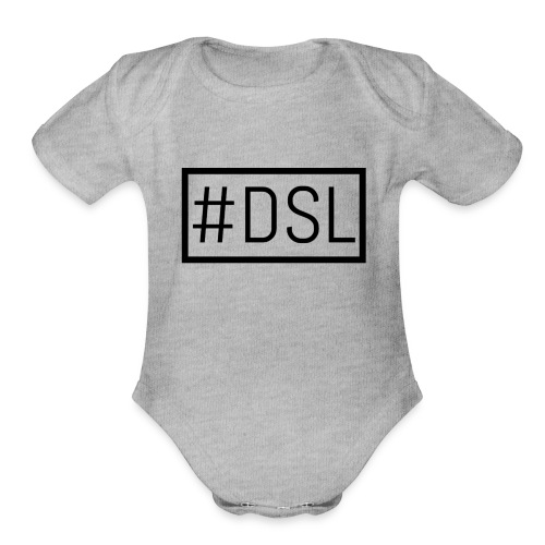 DSL Main Logo - Organic Short Sleeve Baby Bodysuit