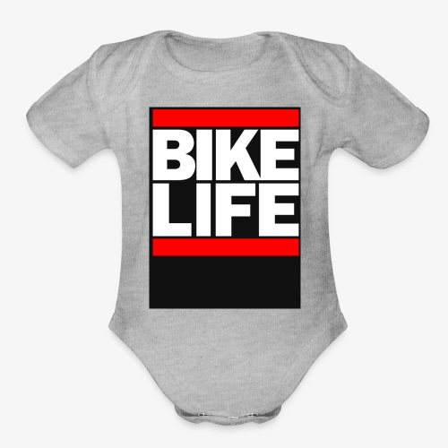 bike life - Organic Short Sleeve Baby Bodysuit