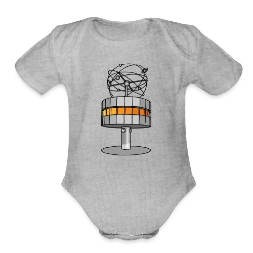 World time clock Berlin - Organic Short Sleeve Baby Bodysuit