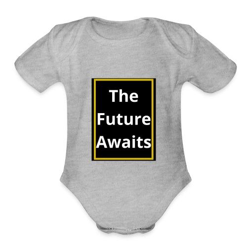 Ouwais Vlogs Merchandise (Gold Edition) - Organic Short Sleeve Baby Bodysuit