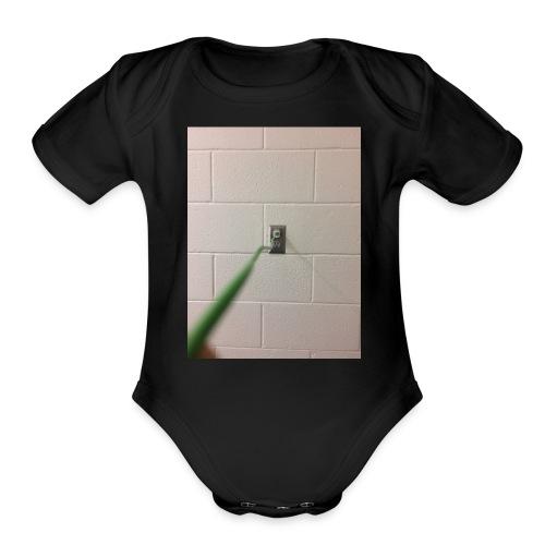 Plugged IN - Organic Short Sleeve Baby Bodysuit
