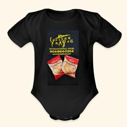 Golden Prague - Organic Short Sleeve Baby Bodysuit