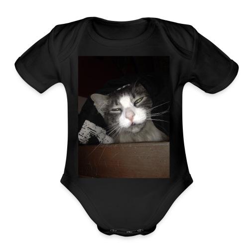 My Cat Melvin - Organic Short Sleeve Baby Bodysuit