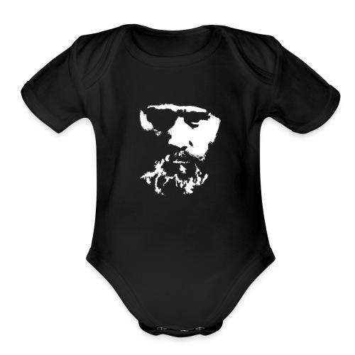 KuixoteWhiteLarge - Organic Short Sleeve Baby Bodysuit