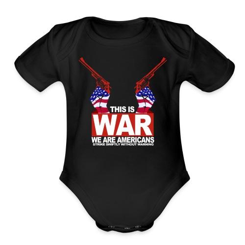 War USA - Organic Short Sleeve Baby Bodysuit