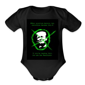 Anti Donald Trump Resistance Election 2016 T-shirt - Short Sleeve Baby Bodysuit