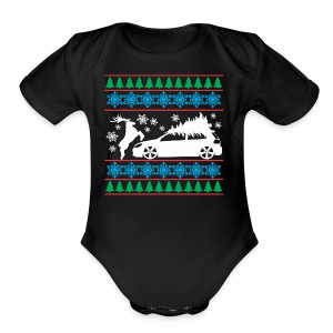 MK6 GTI Ugly Christmas Sweater - Short Sleeve Baby Bodysuit