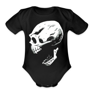 Screaming Skull - Short Sleeve Baby Bodysuit