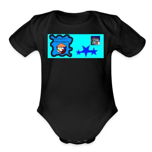 my logo shirt - Organic Short Sleeve Baby Bodysuit