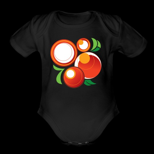 Abstract Oranges - Organic Short Sleeve Baby Bodysuit