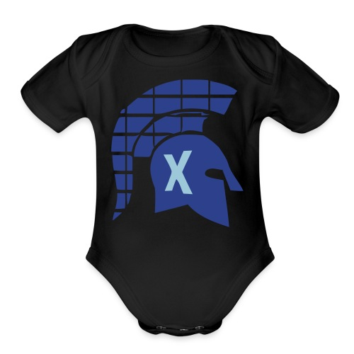 Spartans Tech Blue - Organic Short Sleeve Baby Bodysuit