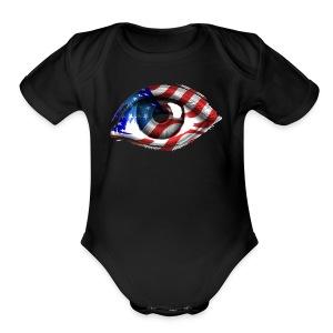 American Eye - Short Sleeve Baby Bodysuit