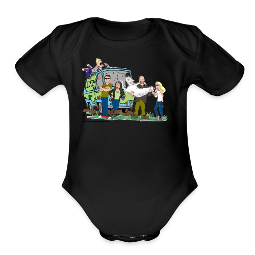 Destination Truth meets Scooby Doo - Organic Short Sleeve Baby Bodysuit