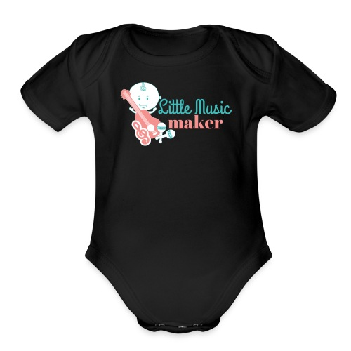 Music Maker (Boy) - Organic Short Sleeve Baby Bodysuit