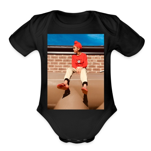 Flamin_Danger - Organic Short Sleeve Baby Bodysuit