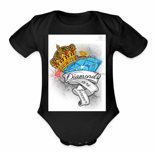 Diamonds Are Forever - Organic Short Sleeve Baby Bodysuit